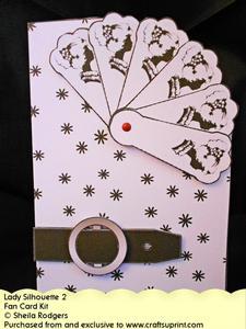 Fan Card - Lady Silhouette 2