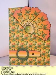 Fan Card - Spring Flowers