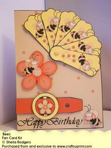 Fan Card - Bees