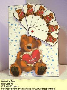 Fan Card - Valentine Bear