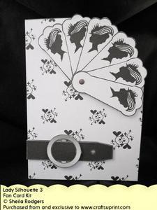 Fan Card - Lady Silhouette 3