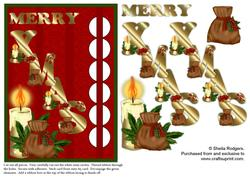 Woven Ribbon Card - Christmas Candle and Spice Bag
