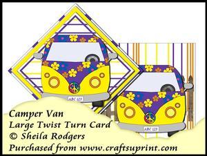 Large Twist Turn Card - Camper Van