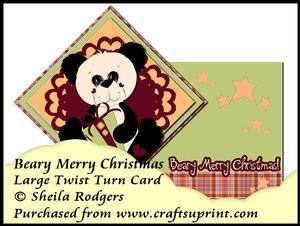 Large Twist Turn Card - Beary Merry Christmas