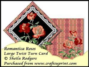 Large Twist Turn Card - Romantica Roses