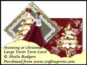 Large Twist Turn Card - Stunning at Christmas
