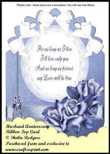 Ribbon Top Card - Husband Anniversary