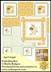 Exploding Box - April Angel