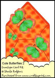 Envelope Card Kit - Cute Butterflies 2
