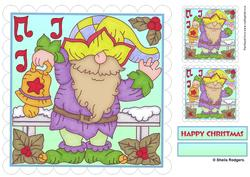 8x8 Topper and Tags - Gnome for Christmas 3