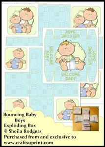 Exploding Box - Bouncing Baby Boys