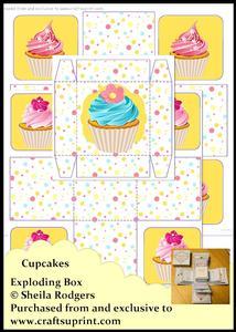 Exploding Box - Cupcakes