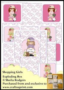 Exploding Box - Shopping Girls