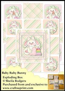 Exploding Box - Baby Ruby Bunny