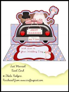 Easel Card - Just Married