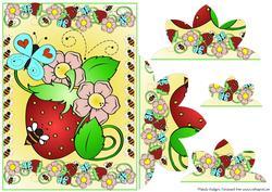 Bee on Strawberry Bottom Stacker