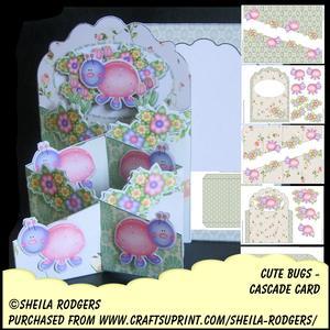 Cascade Card - Cute Bugs