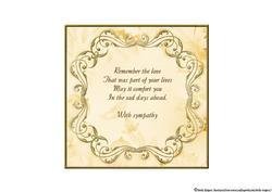 Bible Butterfly Sympathy Insert 3