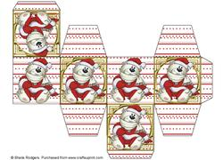 All in One Gift Box - Santa Polar Bears