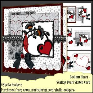 Scallop Pearl Sketch Card - Bedlam Heart
