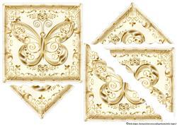 Golden Butterfly Shell Corner Stacker