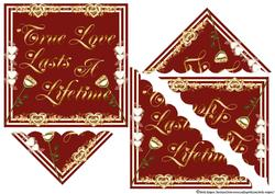 True Love Lasts Shell Corner Stacker