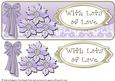 Large Dl with Lace - Lilac Glass Flowers