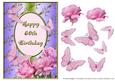 Pink Rose Corner with Butterflies - 60th Birthday