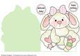Shaped Card - Baby Girl Rabbit 4