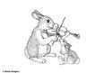 Digital Stamp - Musical Rabbit
