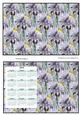 Mini Notebook & Calendar - Irises
