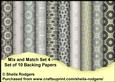 Mix and Match Set 4 - Set of 10 Backing Papers