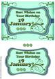 Day of the Year Birthday - January 19