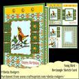 Rectangle Sketch Card - Song Bird