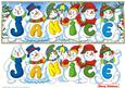Snowmen Names Large Dl - Janice