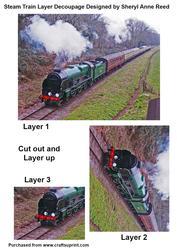 Steam Train Layer Decoupage