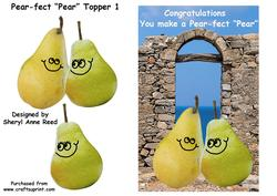 You Make a Pear-fect Pear with Decoupage