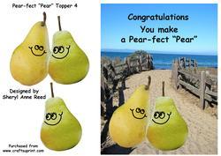 "Congratulations You Make a Pear-fect ""pear"" Topper 4"