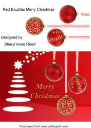 Red Baubles Merry Christmas