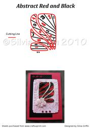 Abstract in Red and Black