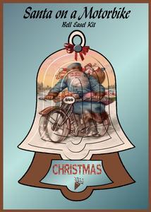 Santa on a Motorbike - Bell Easel Kit