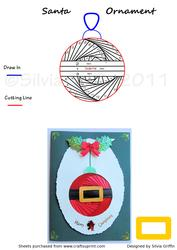 Santa Bauble Ornament