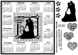 Loving Couple 2016 Calendar 8x8