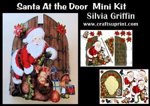 Santa Noking at the Door