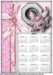 Lady in Pink 2016 Calendar