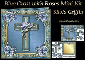 Blue Cross with Roses Mk
