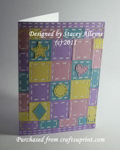 Quilt a Card No 1 - SVG