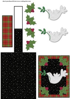 Christmas Dove Easel Card 2