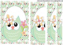 Spring Owl Side Stacker Card Front 1