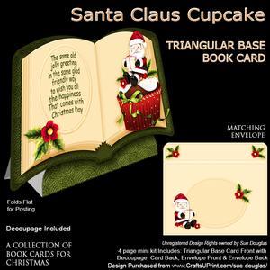 Christmas Book - Santa Clause Cupcake